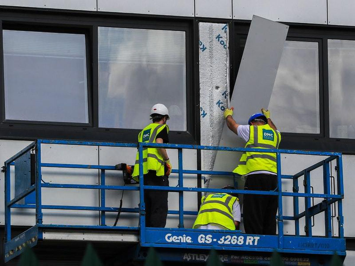 removal of cladding